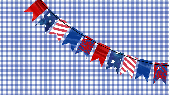 Digital Patriotic Bunting