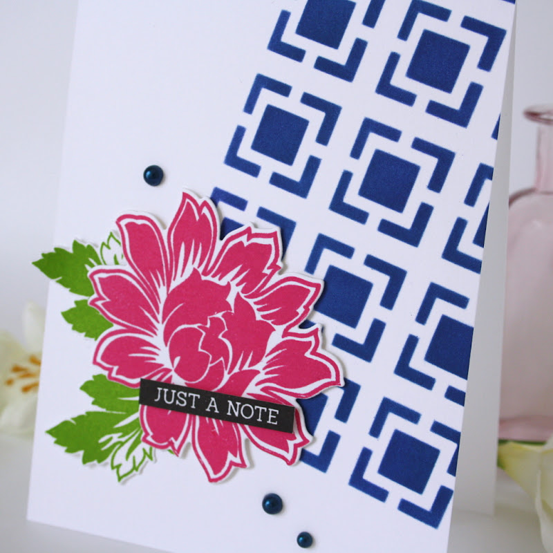 Uniko Beautiful Blooms 1 stamp and die set