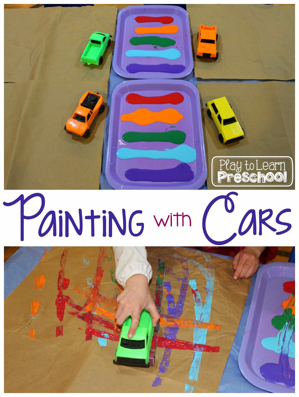 Play To Learn Preschool Painting With Cars