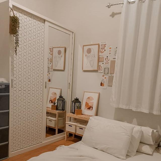 Desain Kamar Tidur Kecil dengan Cermin