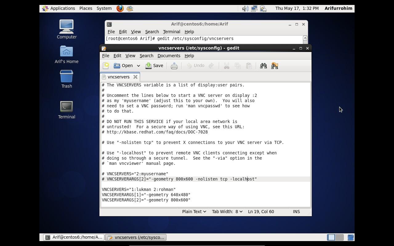 Konfigurasi VNC Server di CentOS 6.2   bayu_zinar_aji