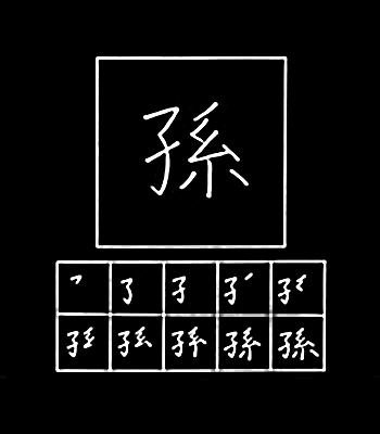 kanji cucu