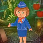 Play Games4King Flight Attendant Escape