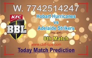 Dream11 Hobart Hurricanes vs Adelaide Strikers BBL T20 Prediction: cricline Prediction BBL 2021