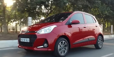 New 2017 Hyundai Grand i10 Facelift in the road