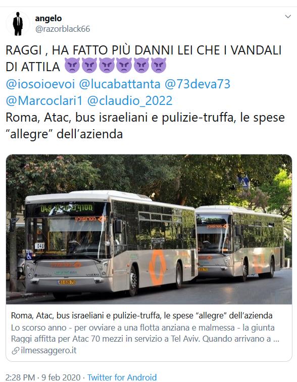 Situazione del trasporto pubblico di Roma di lunedì 10 febbraio