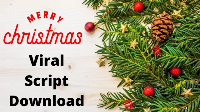 Merry Christmas Wishing Script 2020 for Blogger Free Download