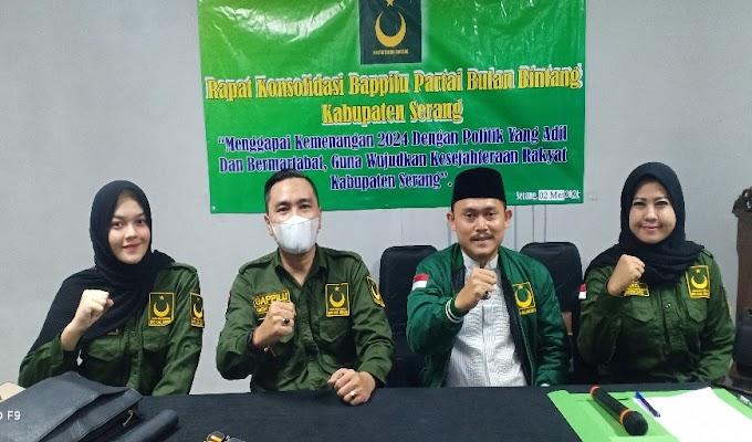 Gelar Rapat Konsolidasi, Bappilu PBB Kabupaten Serang Targetkan 1 Praksi dan 6 persen Suara Nasional