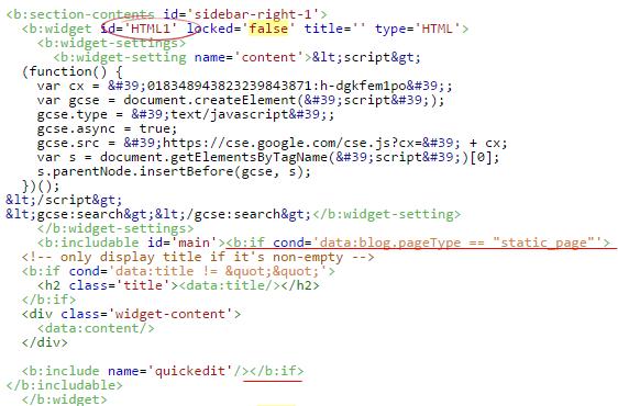 Blogger'da eklentiyi sabit sayfada gösterme