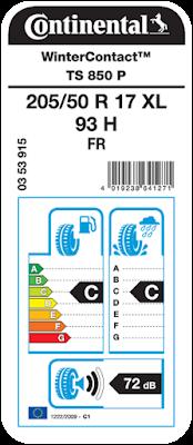 continental lastik etiket