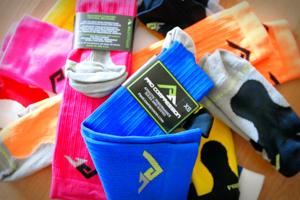 Pile of PRO Compression Socks