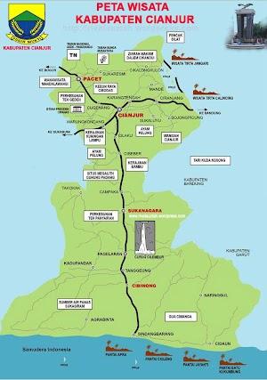 Tourism Map of Cianjur