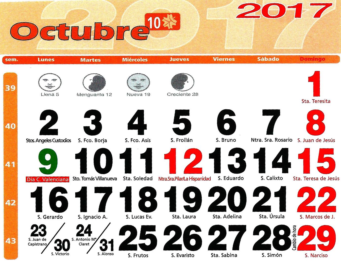 Huerto urbano luis servia borgas calendario lunar 2017 for Calendario lunar de octubre 2016