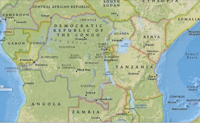 Peta Republik Demokratik Kongo