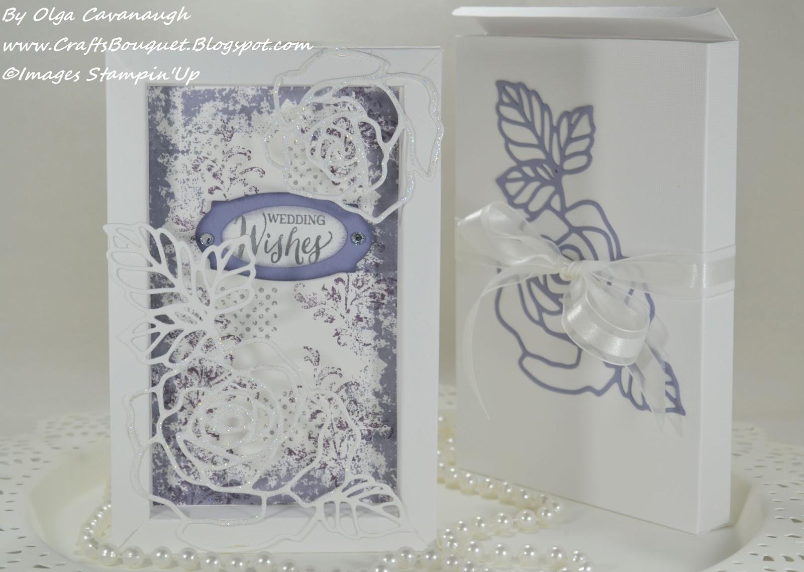 Crafts Bouquet: Stampin'Up Rose Garden Shadow Box Wedding ...