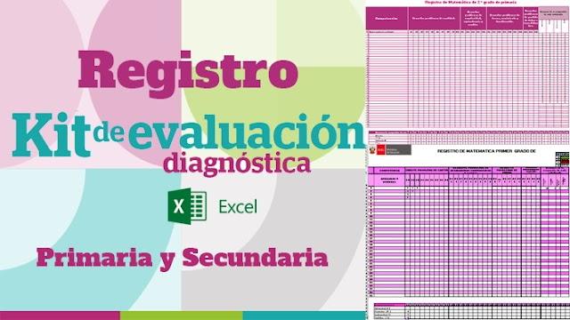 Registro del Kit de evaluación diagnóstica - Excel
