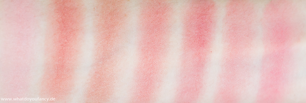 7 shades of... Pink! Die Rouge-Edition Swatches