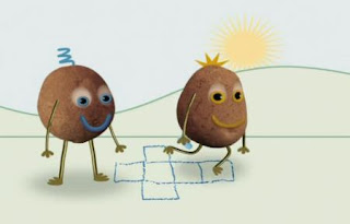 two couch potatoes go outside and get moving. Sesame Street Happy Healthy Monsters