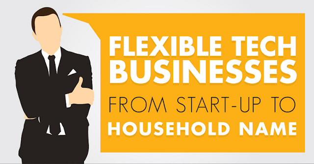 Flexible-Tech-Businesses-From-Start-up-to-Household-Name #Infographic