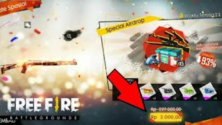 Cara Mendapatkan Special Airdrop Free fire 3000