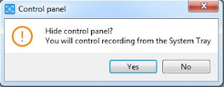 Control panel Free screen video recorder