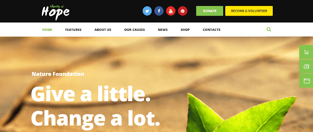 Nonprofit Fundraising & Charity WordPress Themes With Donation System    Hope