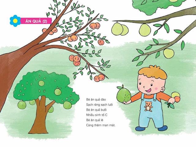 thơ mầm non chủ đề thực vật Tranh minh họa (Ăn quả)
