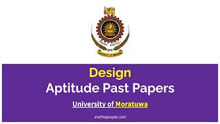 University of Moratuwa - Design Aptitude Test Past Papers - mathspeople.com