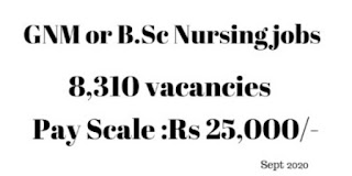 6310 GNM or B.Sc Nursing jobs as Community Health Officer
