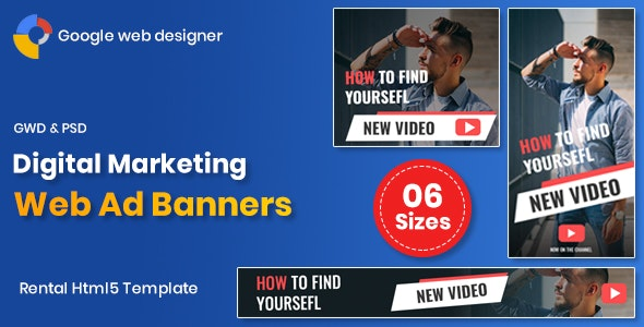 Digital Marketting Banners GWD Download