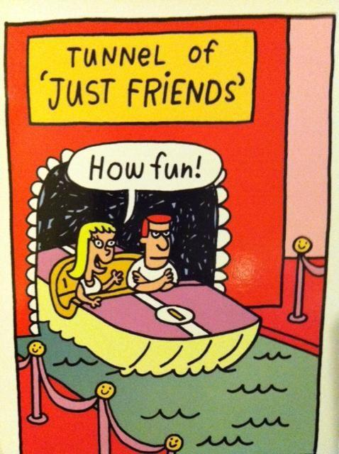Hilarious Tunnel Just Friends Cartoon Image