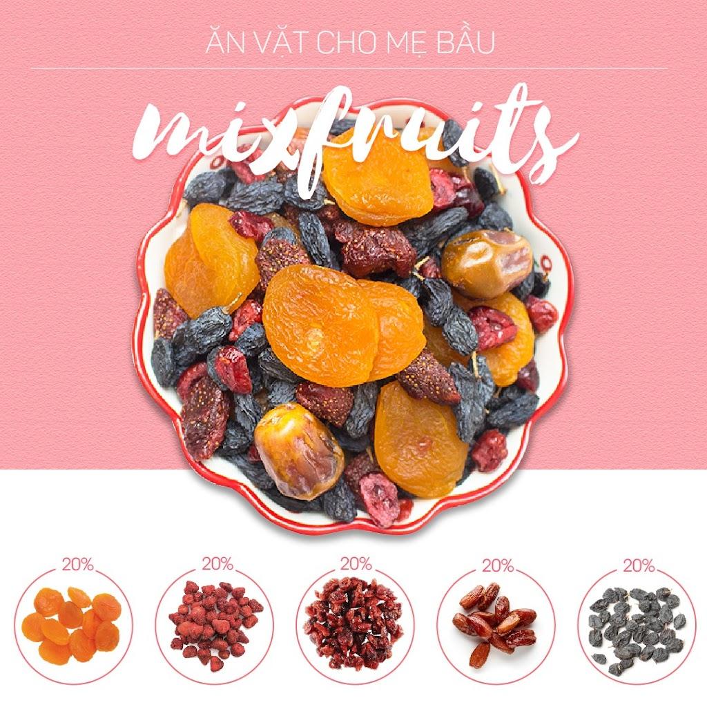 Combo 5 loại hạt dinh dưỡng tách vỏ tốt cho Bà Bầu