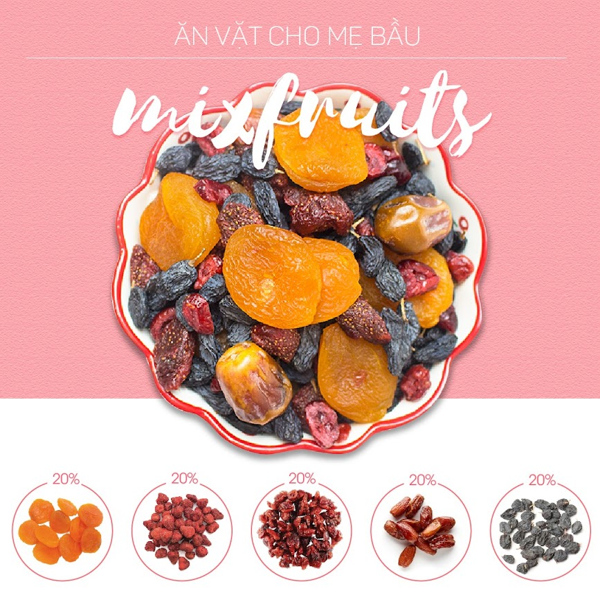 Mixnuts dinh dưỡng toàn diện cho Mẹ và thai nhi