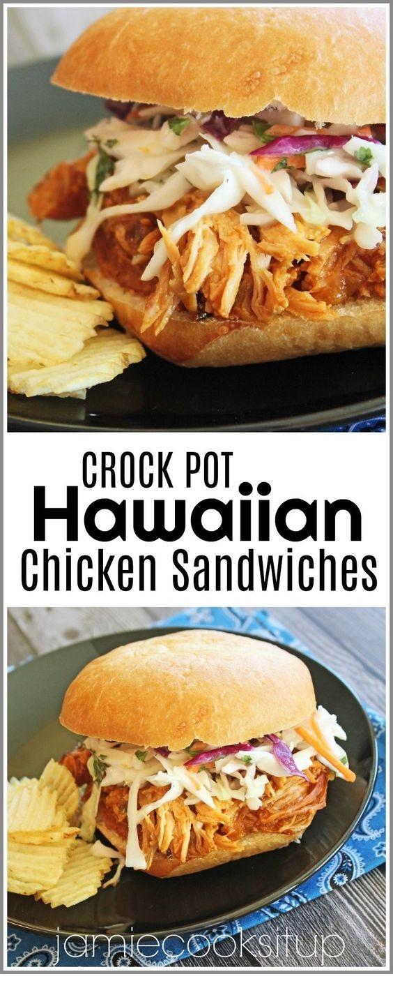 Crock Pot Pineapple Chicken Sandwiches