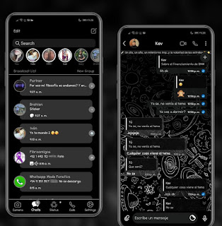 Material Space Dark Theme For YOWhatsApp & RA WhatsApp By Ethel
