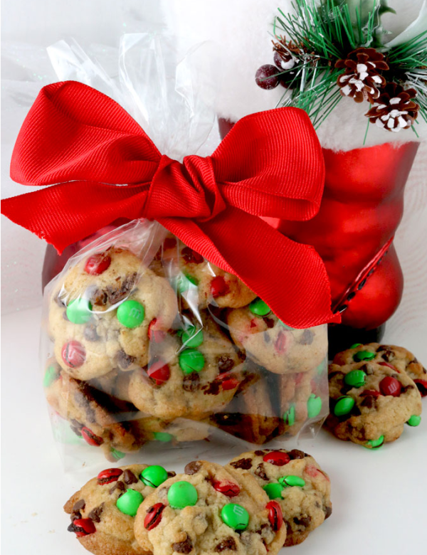 Christmas M&M Mini Cookies