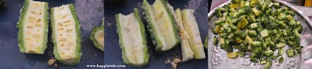 Step 1 - Bitter gourd potato Roast Recipe | Pavakkai Urulai Kizhangu Varuval