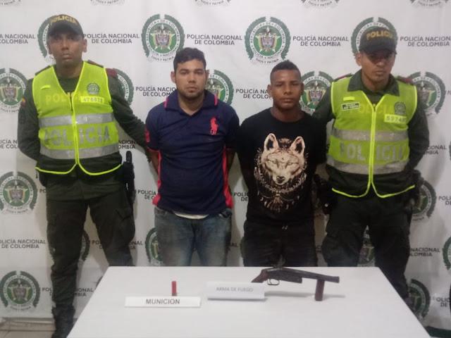 Policía Cesar realiza capturas por porte ilegal de armas en Valledupar
