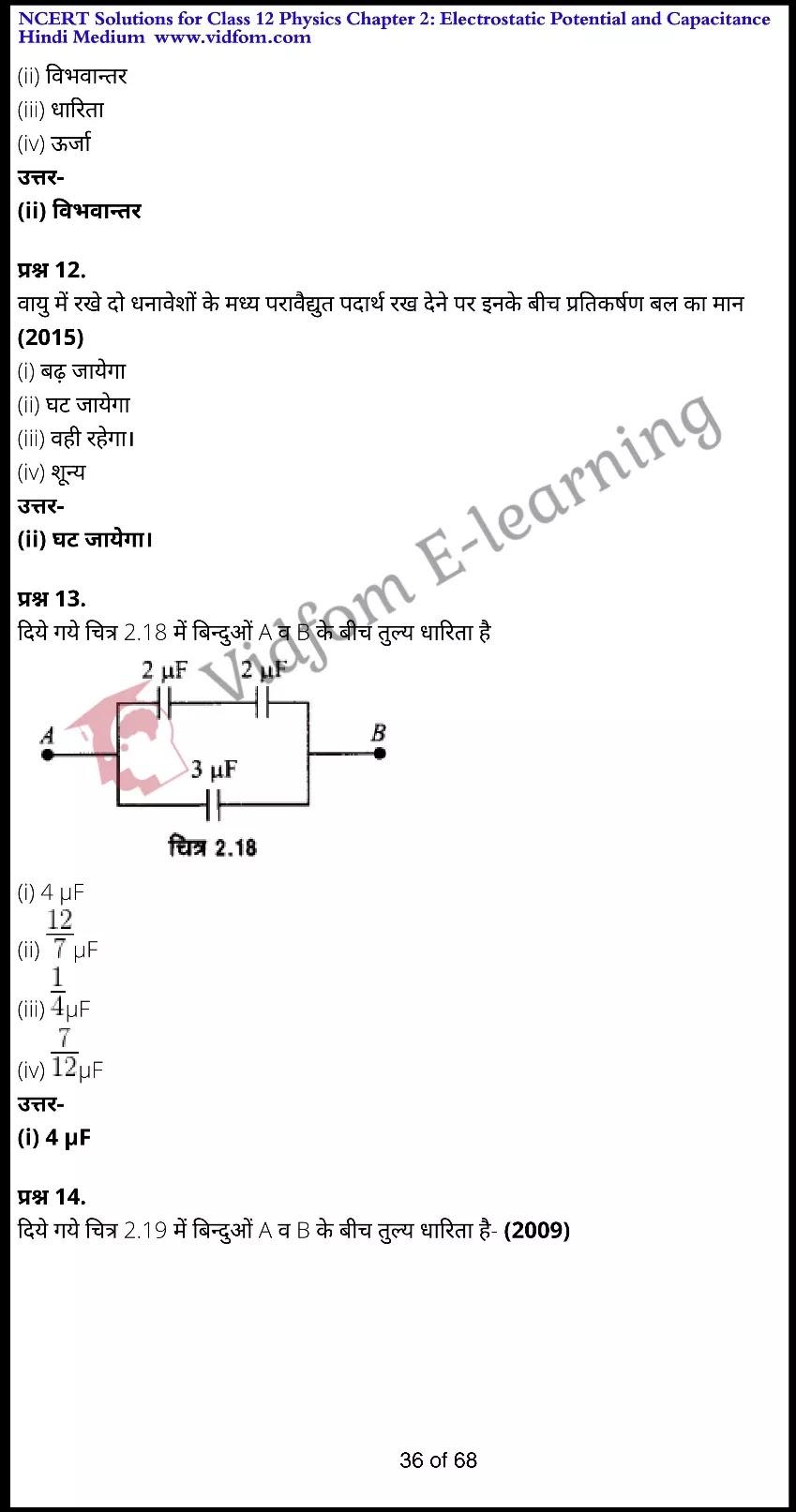 class 12 physics chapter 2 light hindi medium 36