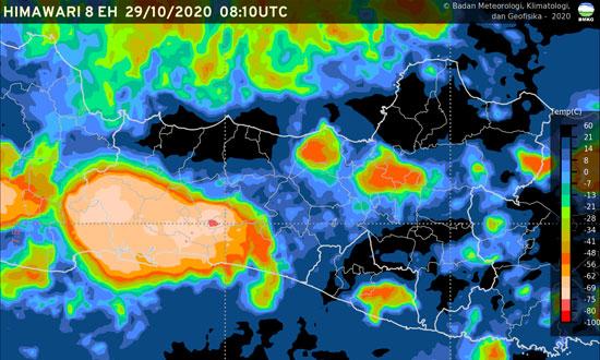 Update Cuaca Moga & Sekitarnya Petang Nanti Diperkirakan akan Diguyur Hujan Ringan