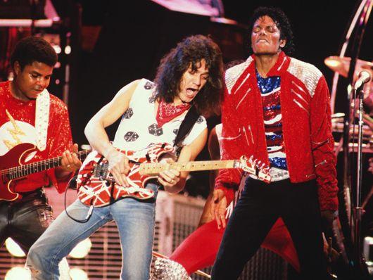 Michael Jackson heavy metal guitarist Eddie Van Halen. PunkMetalRap.com