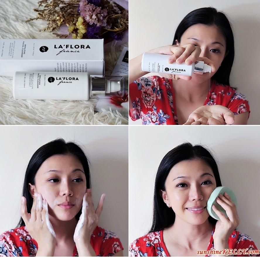 Application & Results: LA' FLORA Repulping Facial Cleanser