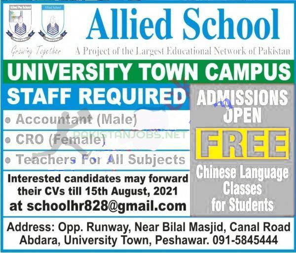Allied School Jobs 2021 Latest Advertisement