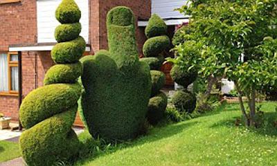 Funny rude shrub garden border
