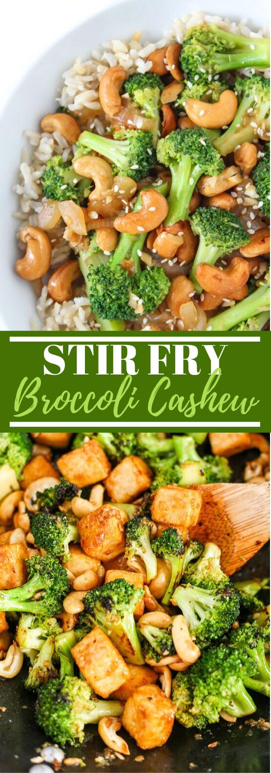 Broccoli Cashew Stir-Fry #vegetarian #vegan