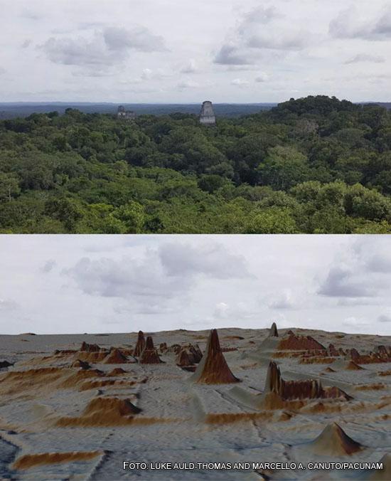 Comparação Território maia escaneado com laser