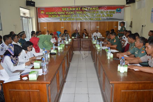 Rapat Pleno Bahas Start Hingga Finish TMMD Reg 105 Agar Sukses