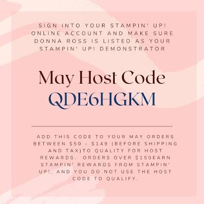 Stampin' Up! Host Code May 2021