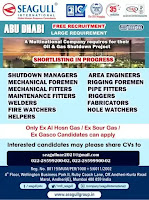 Abu Dhabi Oil Gas shutdown project Vacancy