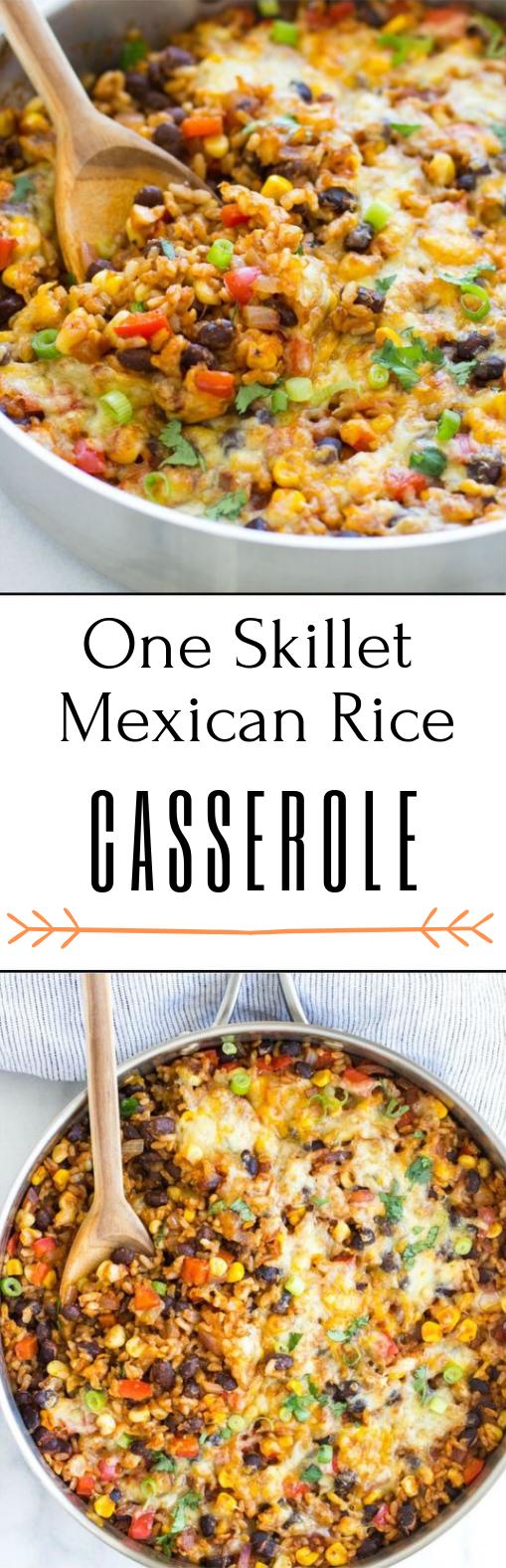 ONE SKILLET MEXICAN RICE CASSEROLE #dinner #casserole
